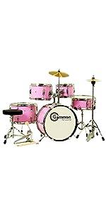 pink junior kids girls drum set