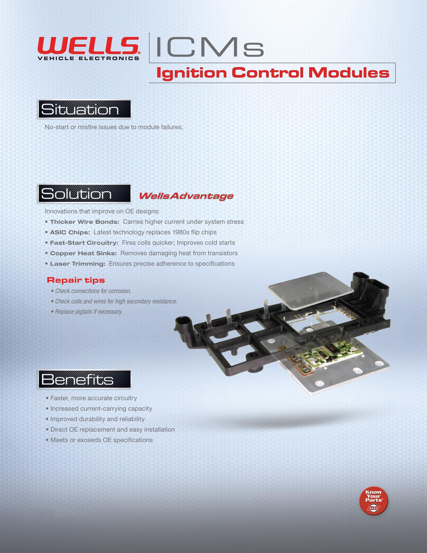 Wells Am104 Ignition Control Module Automotive 86 Volvo Coil Wiring Modules From Vehicle Electronics