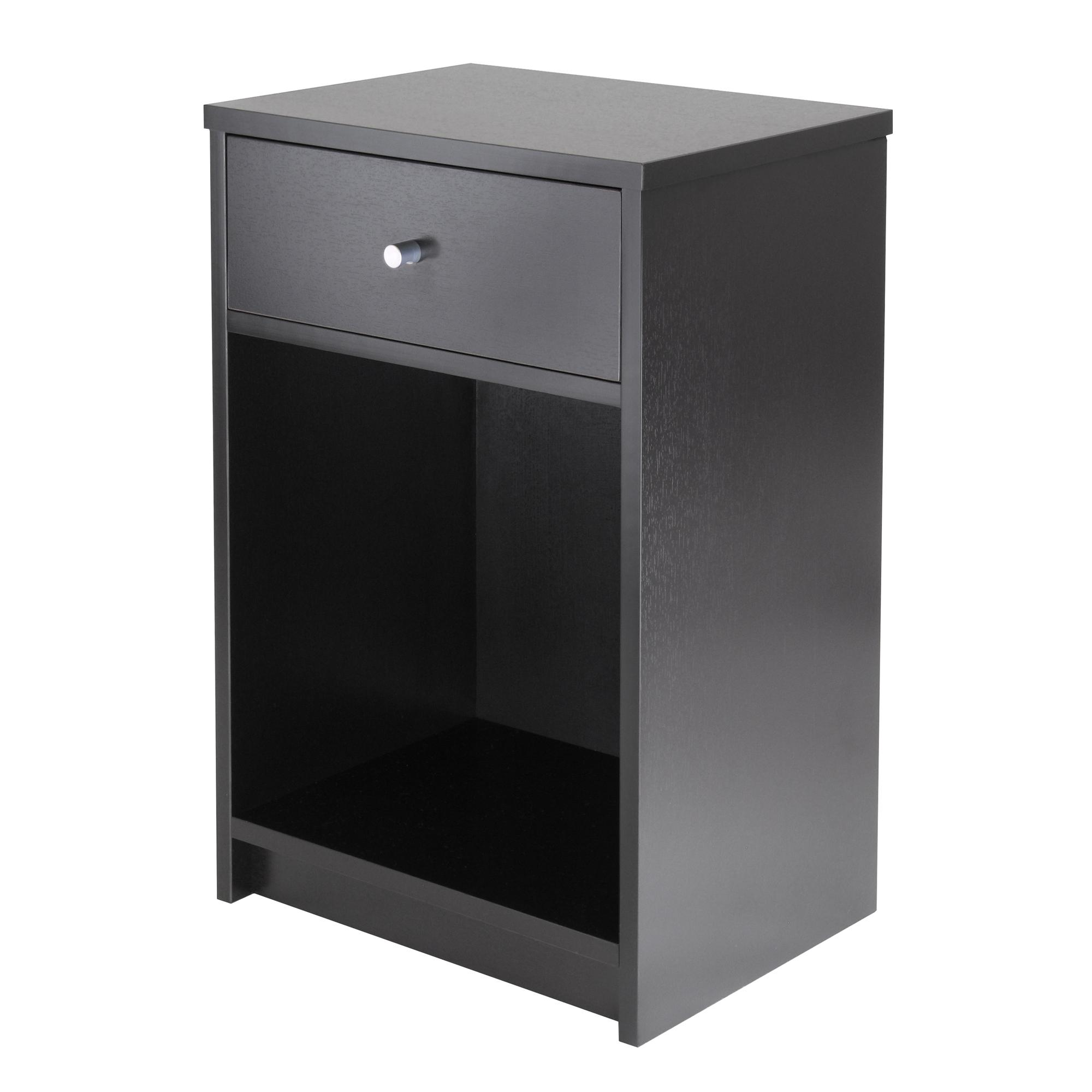Amazon Winsome Squamish Accent Table with 1 Drawer Black