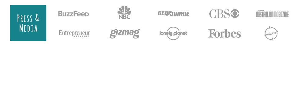 Scrubba WashBag has been recognized by media including NBC, Lonely Planet, Forbes, Buzzfeed, & more