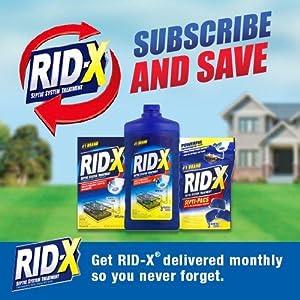Rid X Septic Tank System Treatment 4 Month Supply Powder
