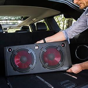 ion audio road warrior 500 watt portable. Black Bedroom Furniture Sets. Home Design Ideas