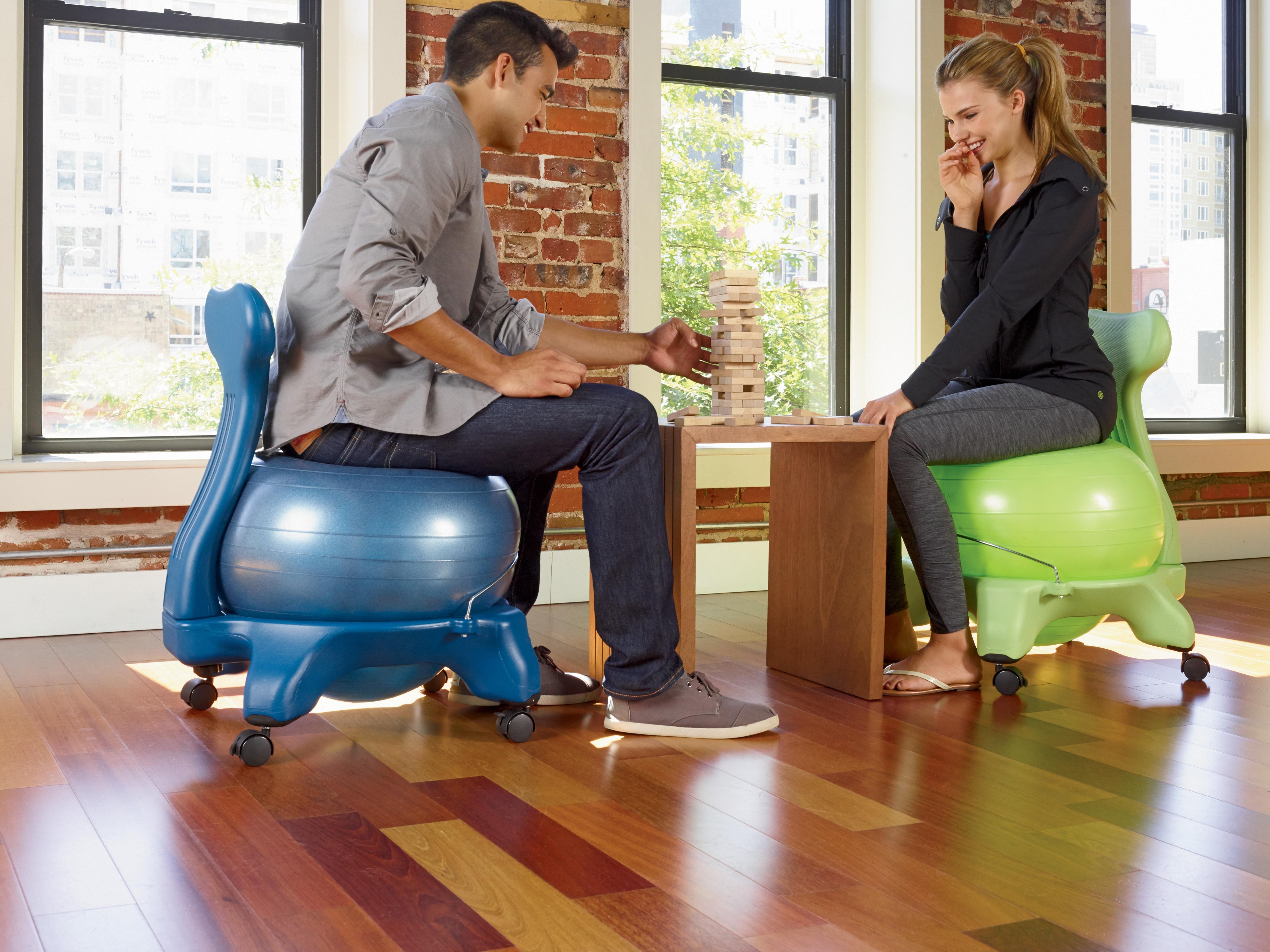 Gaiam Balance Ball Chair Black eBay