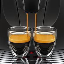 Saeco, espresso machine with milk frother