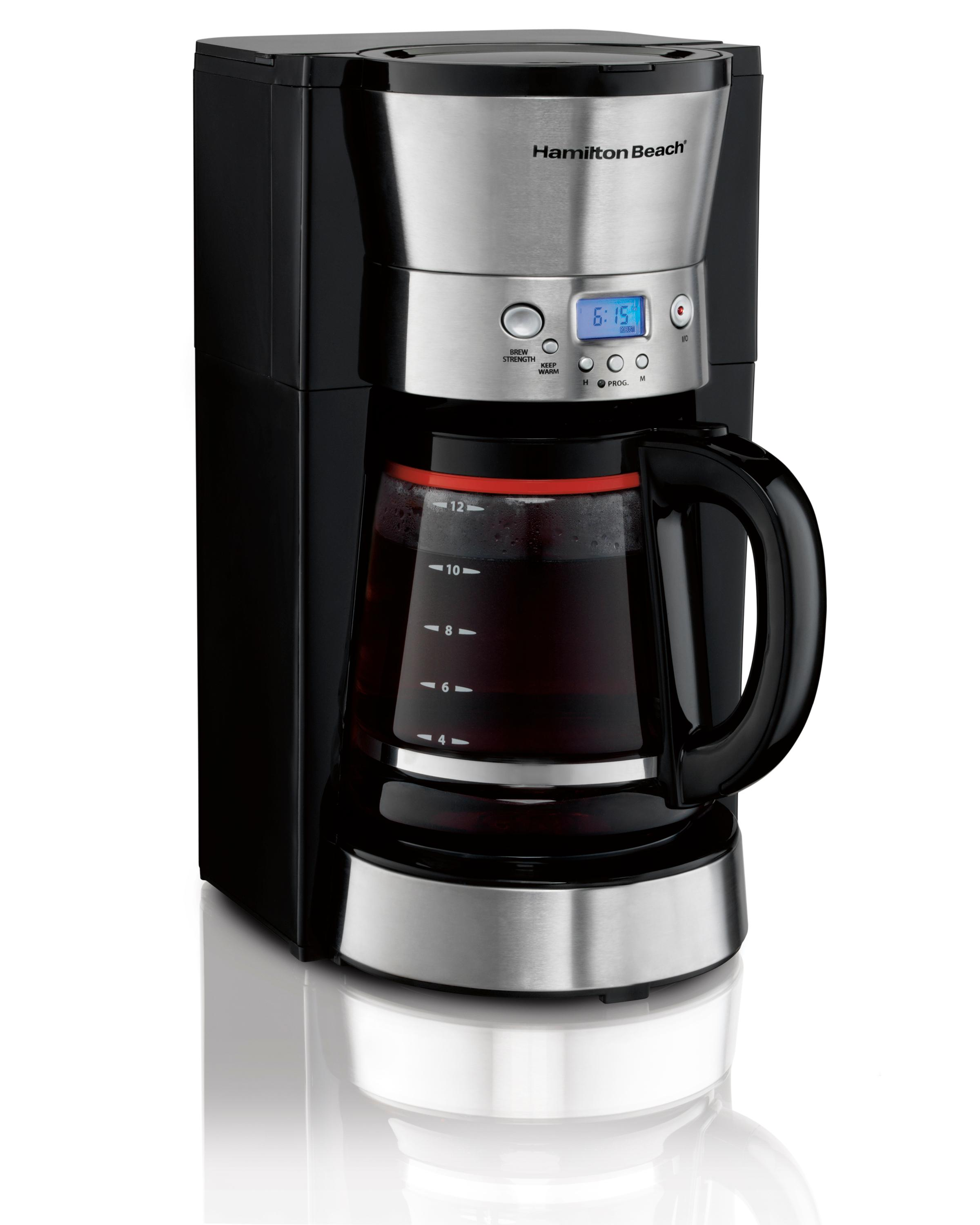 Programmable Filter Coffee Maker : Amazon.com: Hamilton Beach 46895 12 Cup Programmable Coffee Maker, Black: Kitchen & Dining