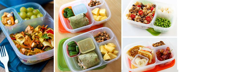 For school work travel  sc 1 st  Amazon.com & Amazon.com: EasyLunchboxes 3-Compartment Bento Lunch Box ... Aboutintivar.Com