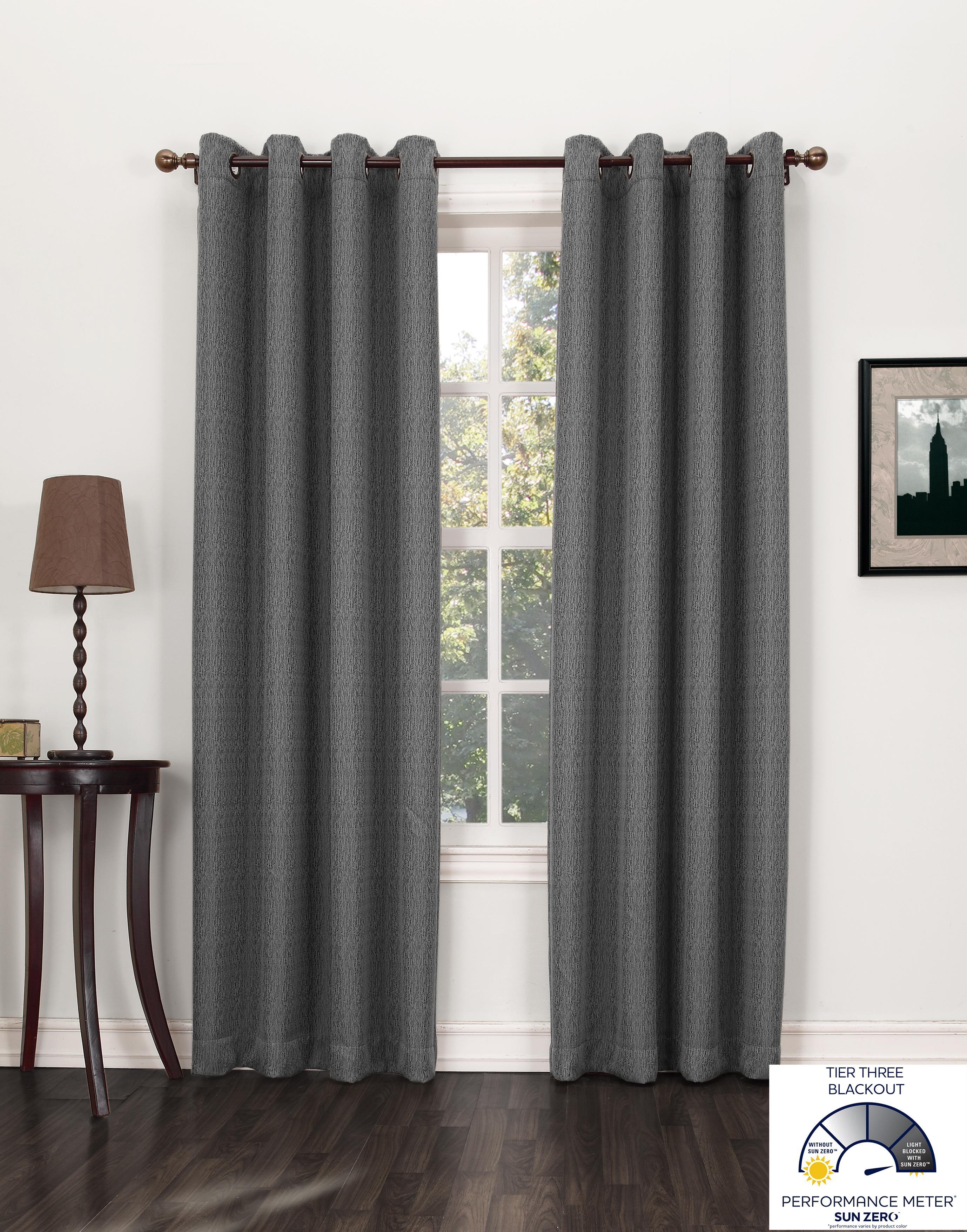Sun Zero Burton Textured Blackout Curtain