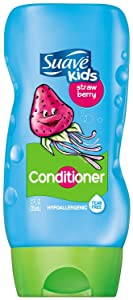 Suave Strawberry Fairy Berry Conditioner provides tear-free bathing & leaves hair feeling extra soft