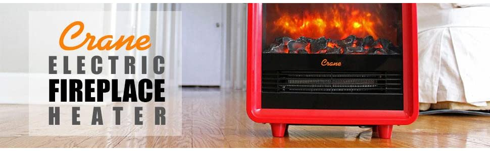 Amazon Com Crane Fireplace Heater Black Health Personal Care