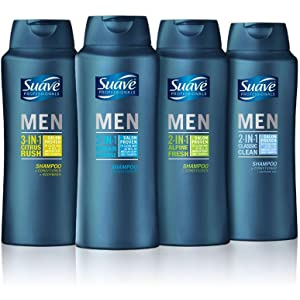 Suave Men 2 in 1 Shampoo and Conditioner Classic Clean Anti Dandruff hair pyrithione zinc scalp dry