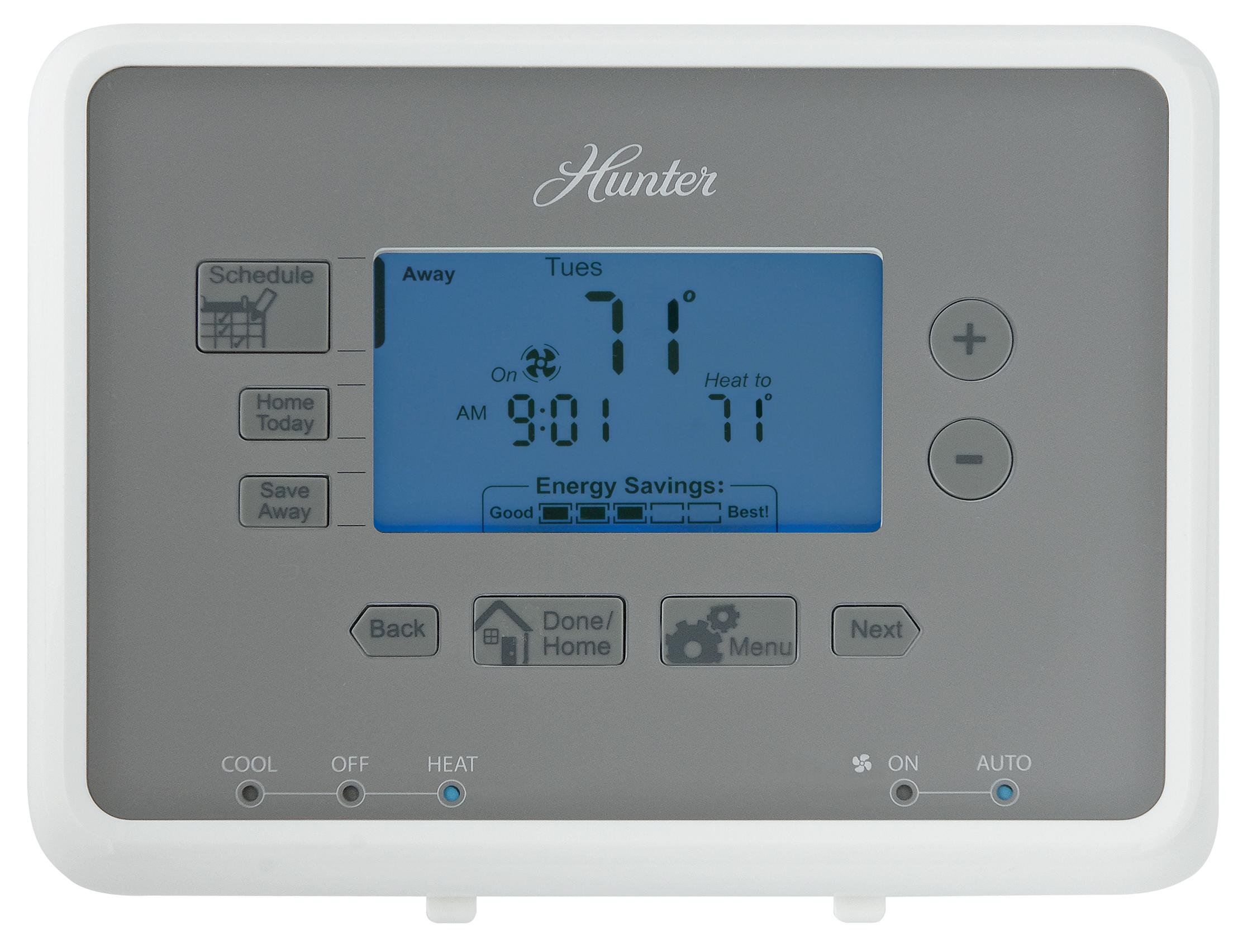 Hunter 44377 7 Day Digital Programmable Thermostat Home Rth2300 Wiring Instructions Download Diagrams Honeywell Wire Cover Nest