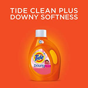 Tide Plus Downy April Fresh Liquid HE Turbo Clean Laundry Detergent; tide clean plus downy softness