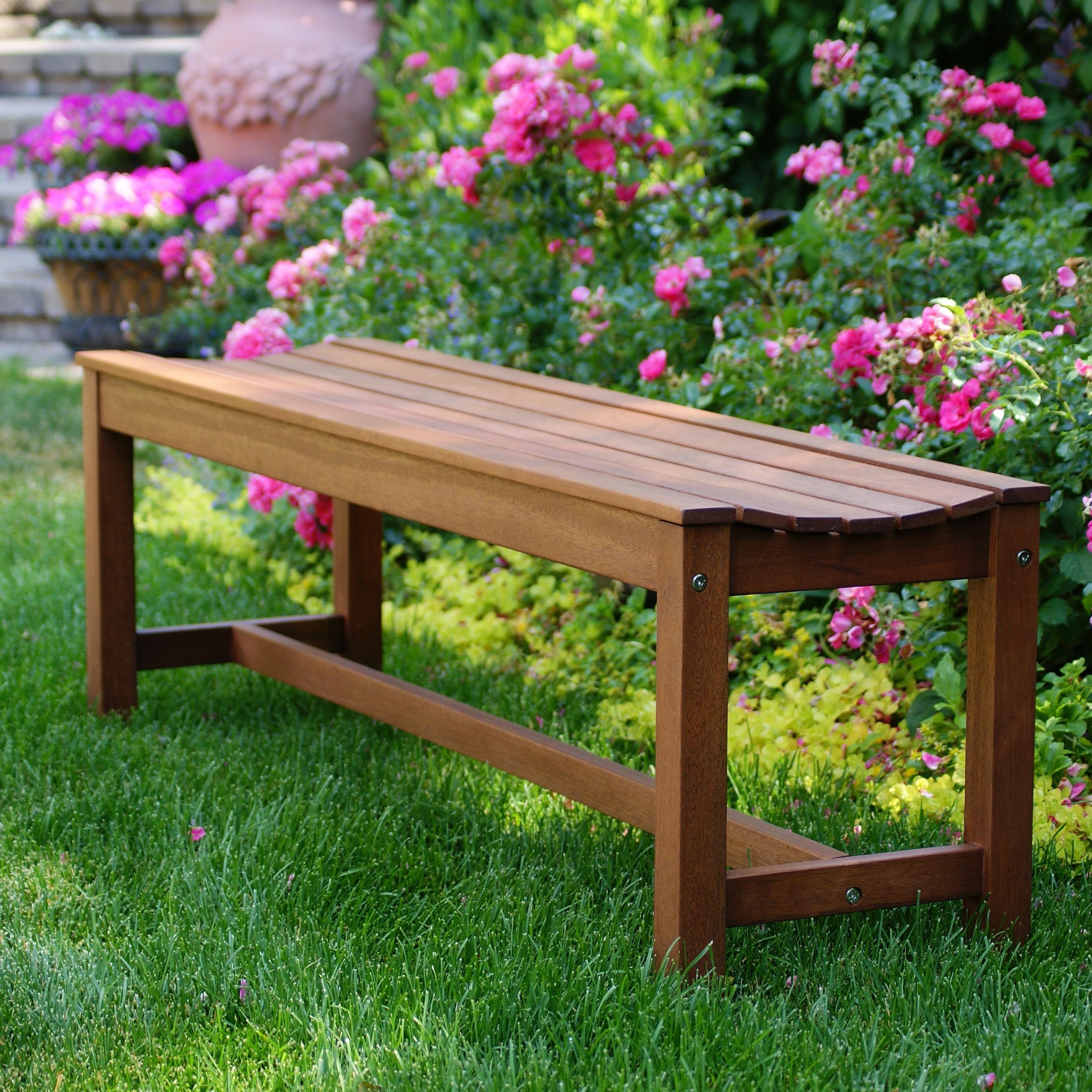 Awesome Outdoor Backless Bench