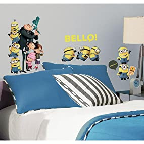 Despicable Me wall decals, Despicable Me wall stickers, Minions wall stickers, Minions wall decals