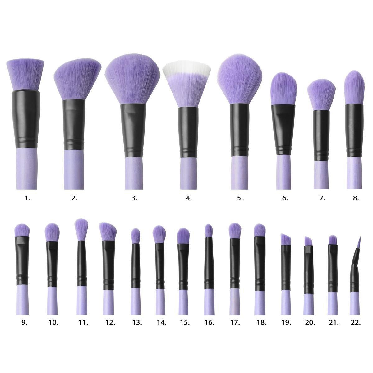 Uncategorized Vanity Brush amazon com coastal scents brush affair vanity collection 22 piece brushes