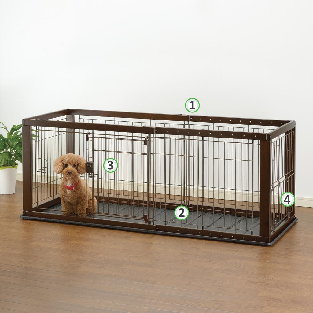 Superb Expandable Pet Crate With Floor Tray Medium