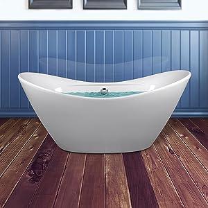 Bathroom, Freestanding Bath Tub, Bathtubs, Soaking Tub, Tubs, Oval, White
