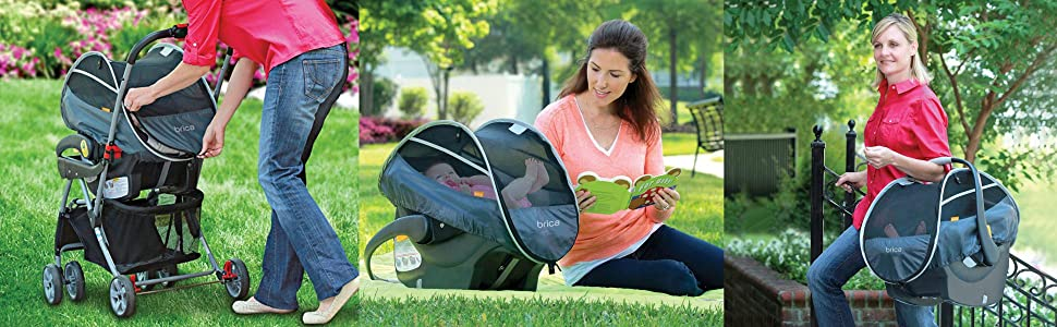 Amazon.com: Brica Infant Comfort Canopy Car Seat Cover: Baby