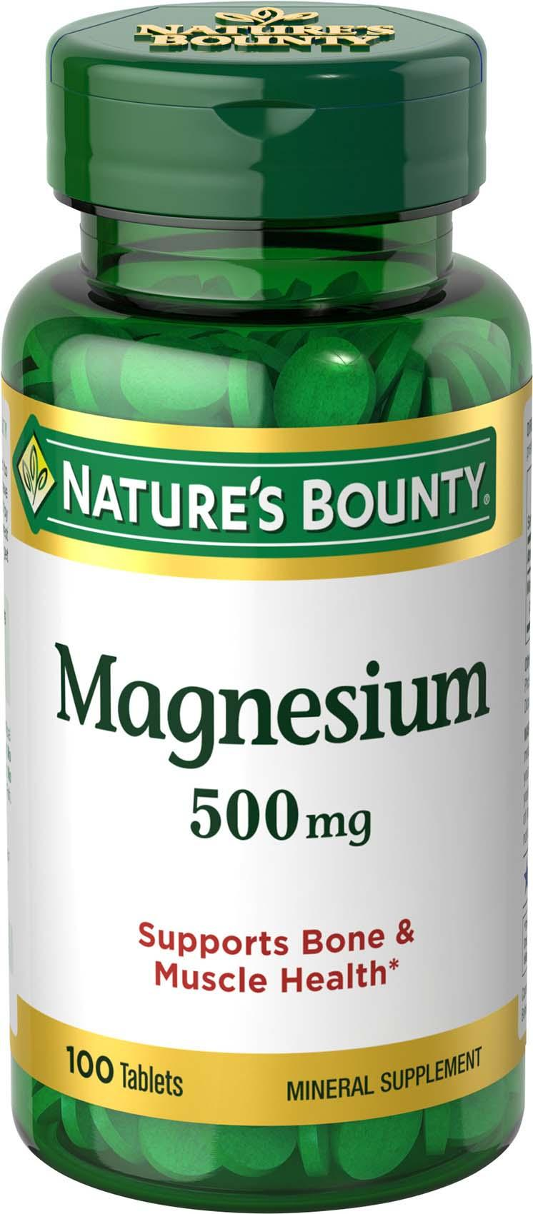 muscle bone health magnesium bounty amazon supplement supports nature mg natures mineral na coated tablets