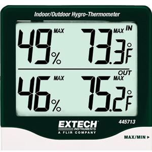 display, LCD screen, big digits, dual, temperature and humidity, readout, indoor, outdoor