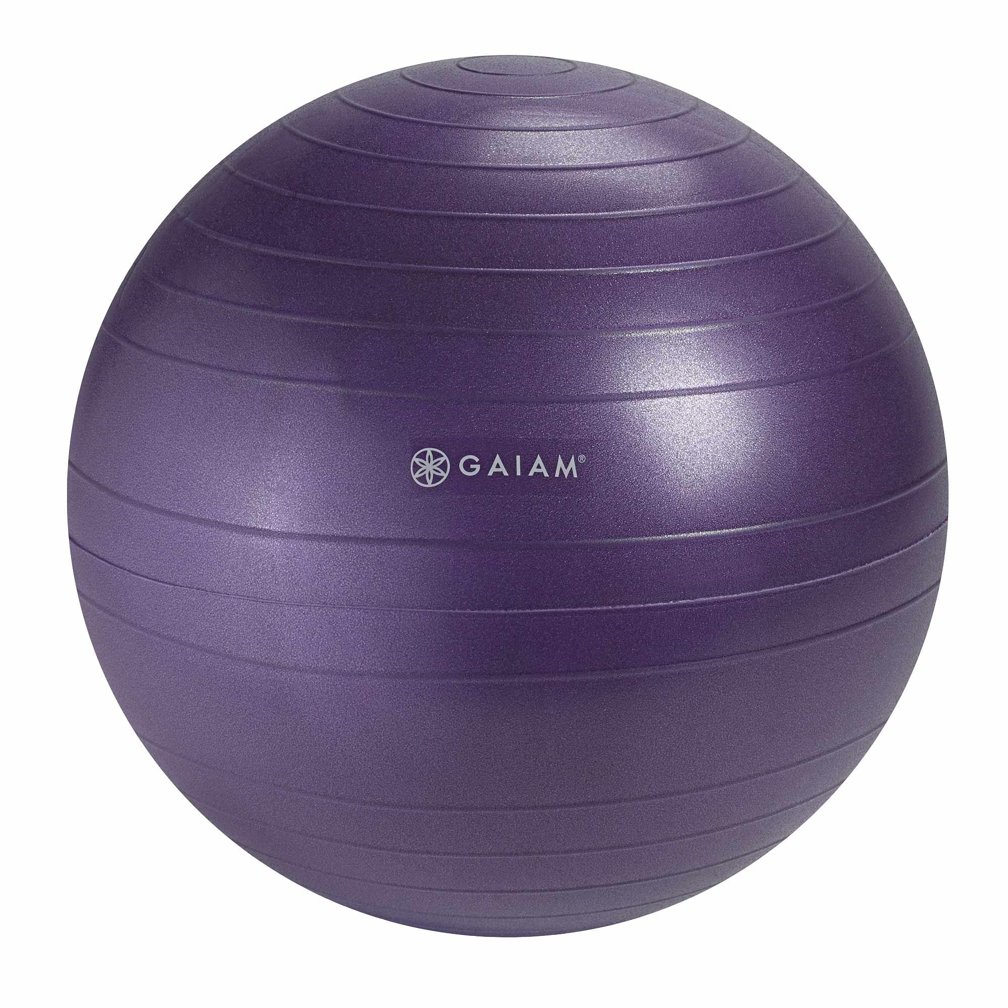 gaiam balance ball chair replacement ball blue 52cm sports outdoors. Black Bedroom Furniture Sets. Home Design Ideas