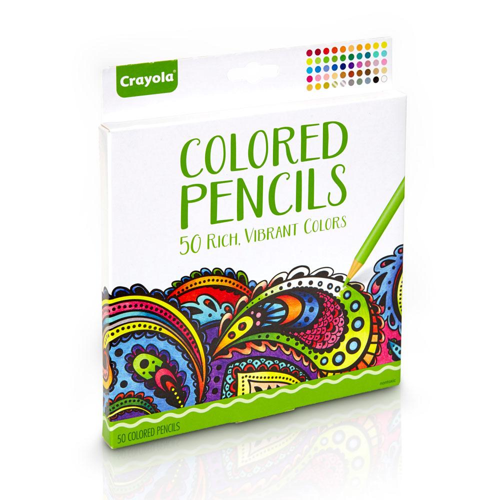Crayola Colored Pencils 50 Count Vibrant Colors Pre-sharpened great ...