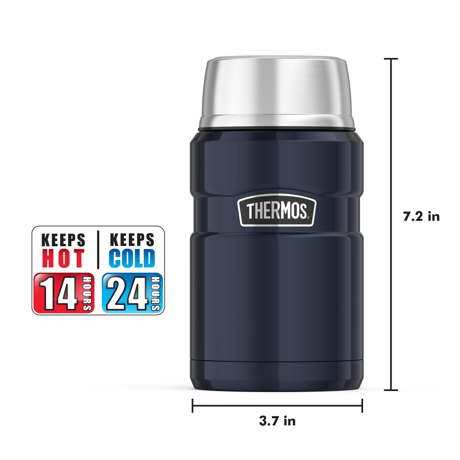 thermos stainless king 24 ounce food jar stainless steel ebay. Black Bedroom Furniture Sets. Home Design Ideas