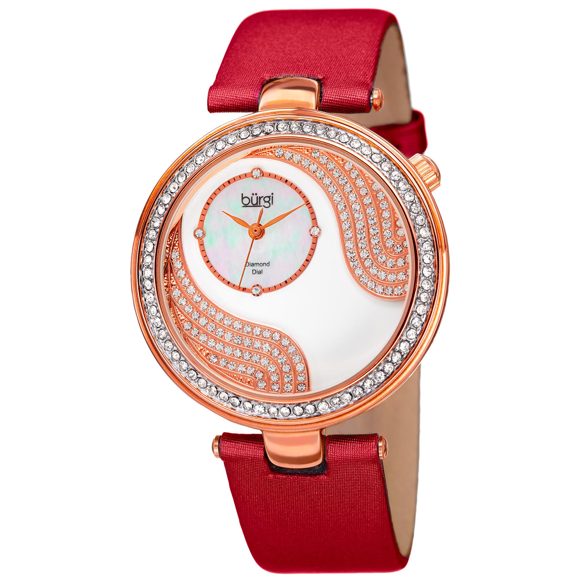 kidston watch red com strap dot briar ladies cath leather rose polka watchshop watches