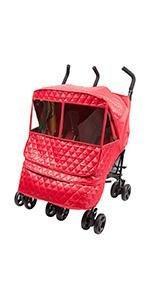 Castle Alpha Twin Stroller Weather Shield