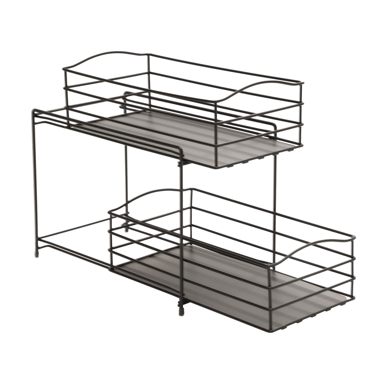 Amazon Com Seville Classics 2 Tier Sliding Basket Kitchen