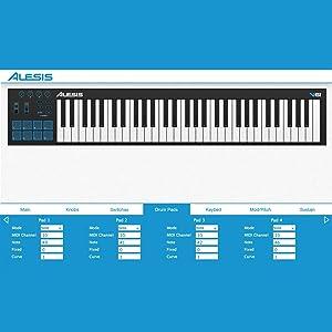 Alesis V61 61-Key USB MIDI Pad/Keyboard Controller