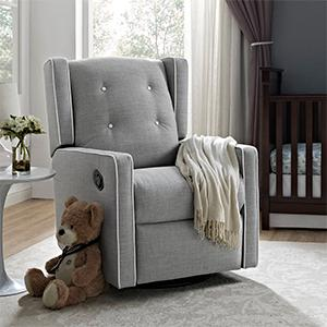 Baby Relax Mikayla Swivel Gliding Recliner Nursery Room : glider or recliner for nursery - islam-shia.org