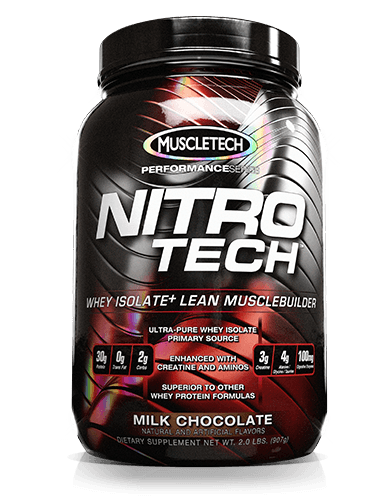 Muscletech nitrotech protein powder whey isolate lean musclebuilder milk - Nitro tech isolate ...