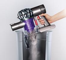 Hygienic bin emptying v6 trigger