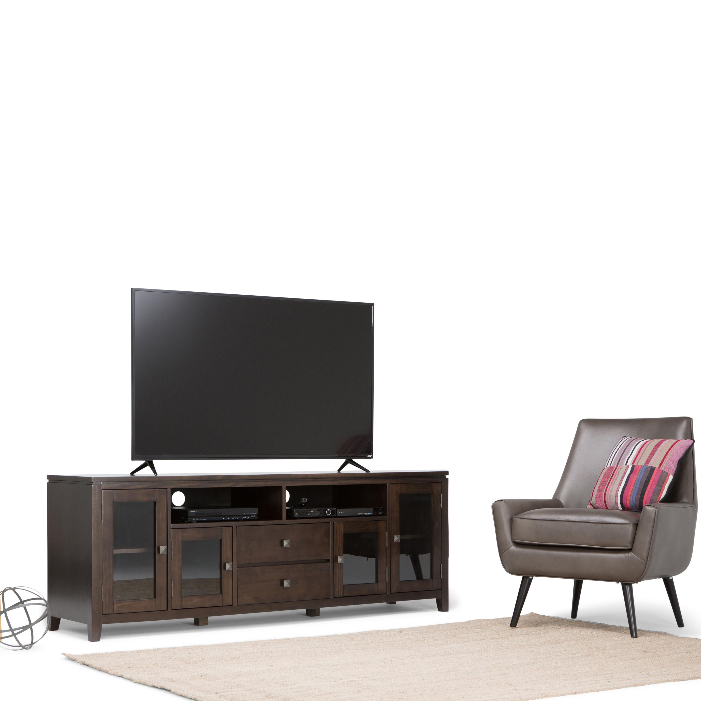 Simpli home cosmopolitan wide tv media stand Tv media stands