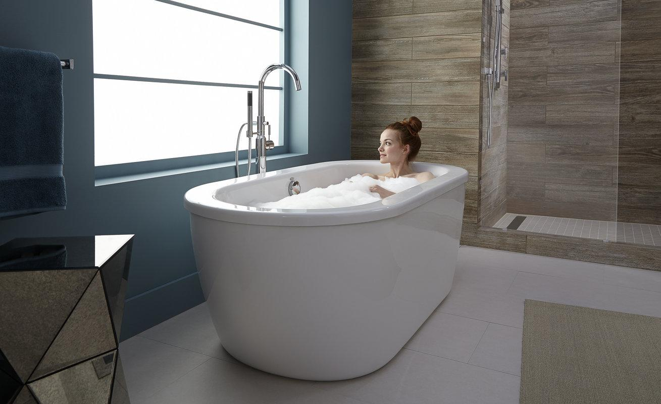 freestanding soaking tub for two. From the manufacturer American Standard 2764014M202 011 Cadet Freestanding Tub  Arctic