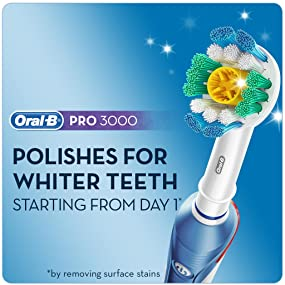 Oral-B PRO 3000 Electric Toothbrush, whiter teeth