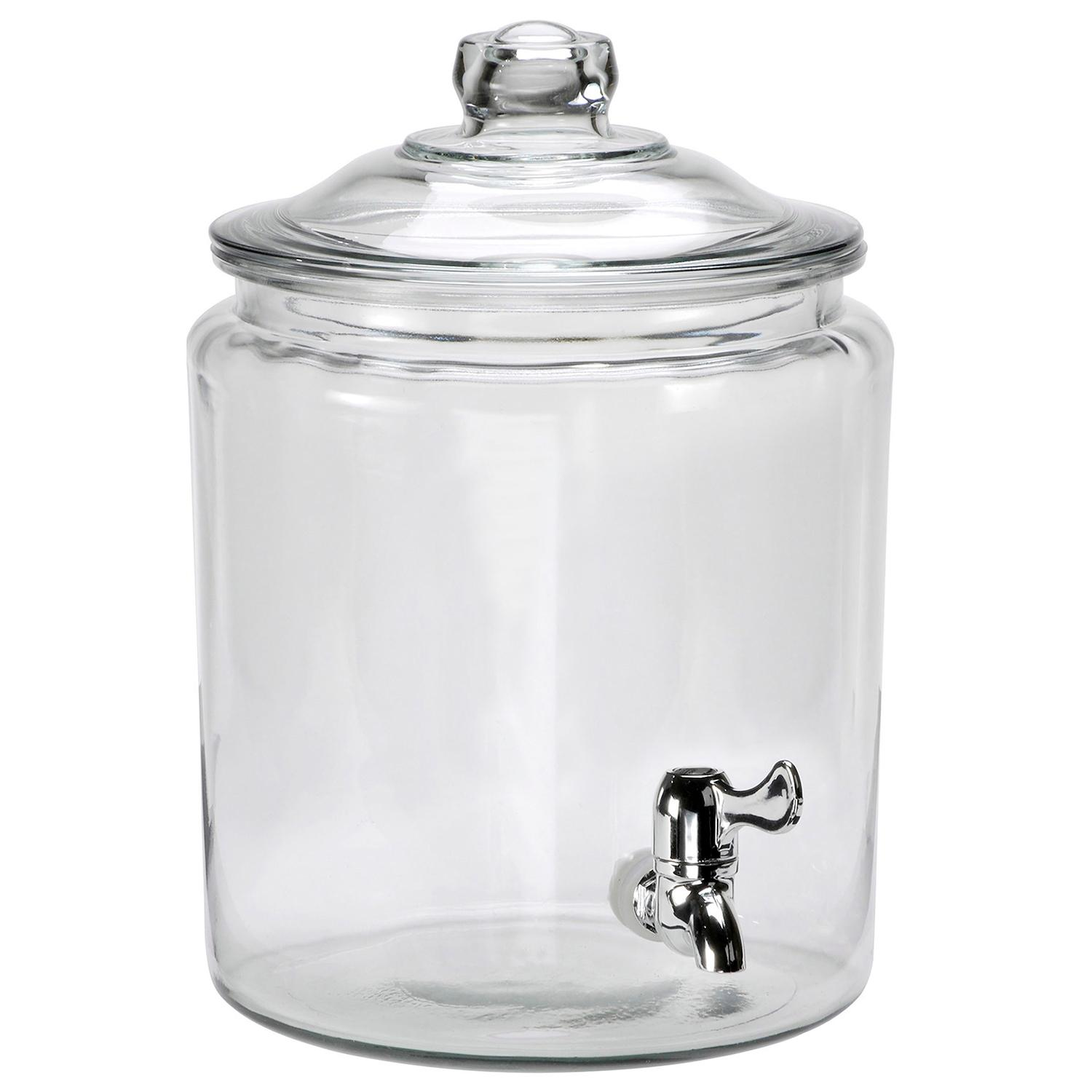 anchor hocking heritage hill glass beverage dispenser with spigot 2 gallon iced. Black Bedroom Furniture Sets. Home Design Ideas