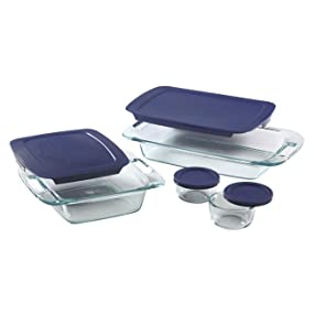 pyrex; bakeware; glassware; glass bakeware; glass storage