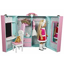 Superbe 18 Inch Doll Storage Trunk And Bedroom Scene Play Set!