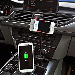 car mount, car holder, car dock, fm transmitter, usb charger