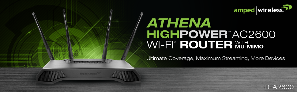 Athena Router, Amped Wireless