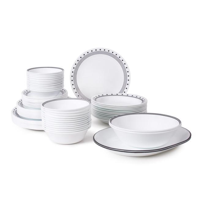 Amazon Com Corelle Livingware 76 Piece Dinnerware Set