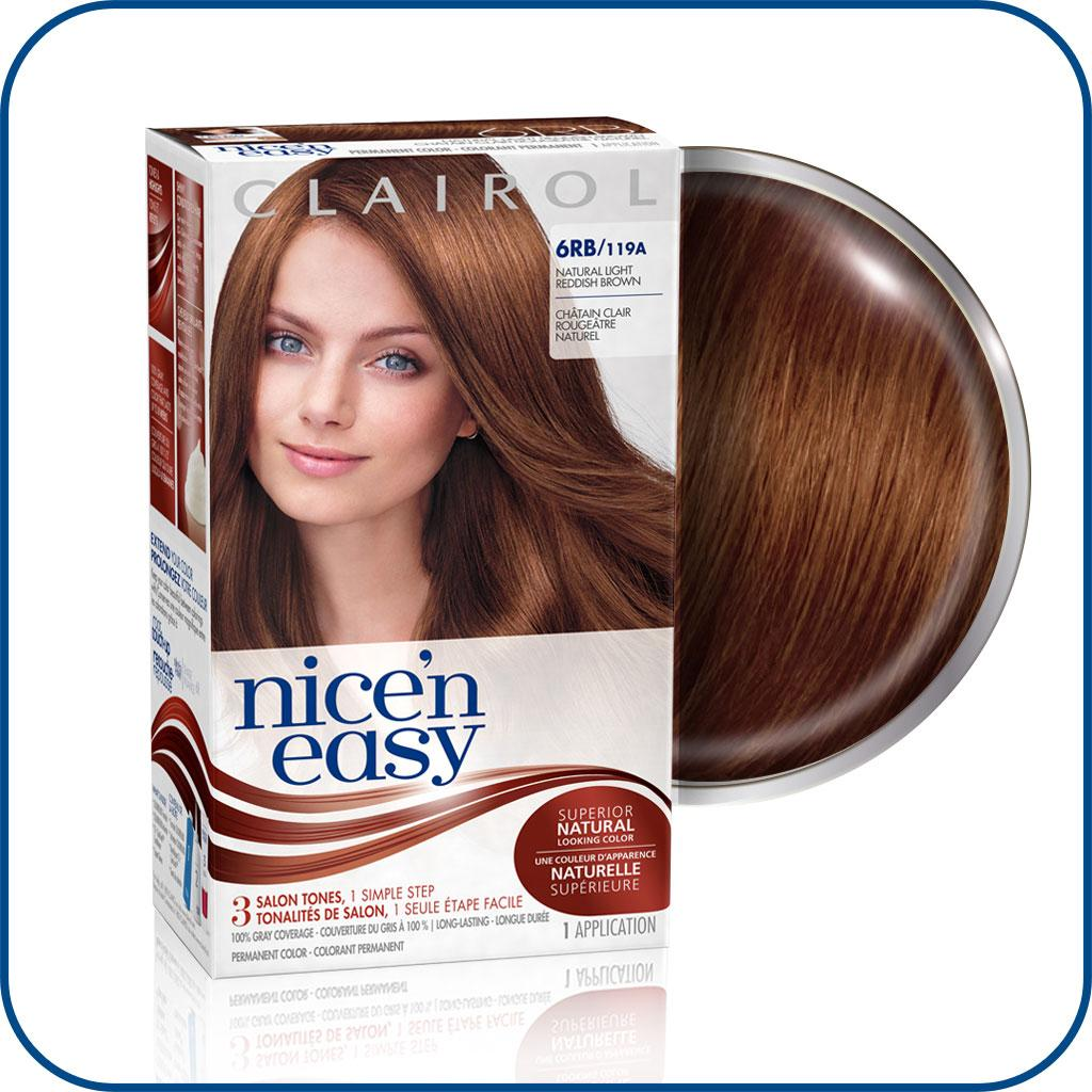 Amazon Com Clairol Nice N Easy Hair Color 119a 6rb Natural Light