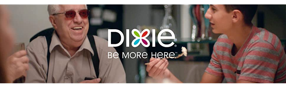 dixie, paper, plates, cups, disposable, household, party, family, dinner