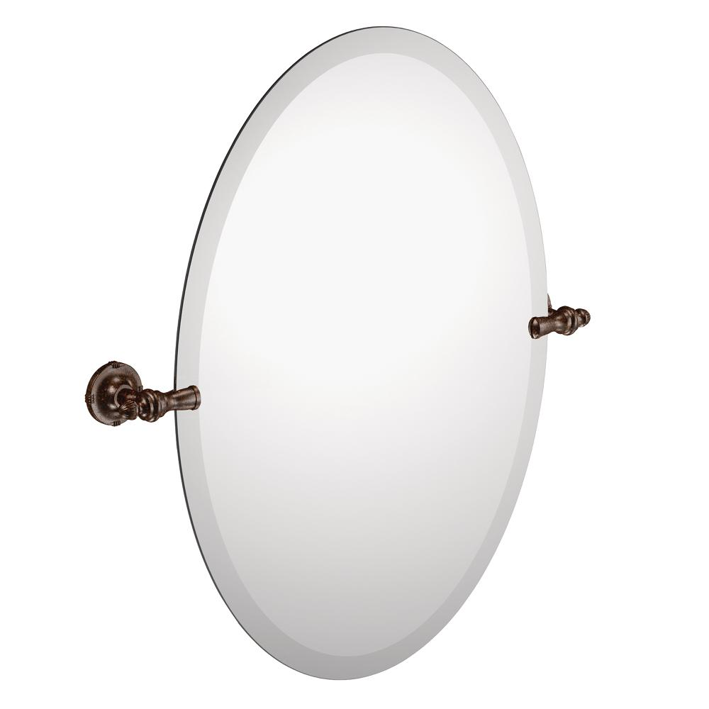 Amazon.com: Moen DN0892ORB Gilcrest Bathroom Oval Tilting Mirror ...