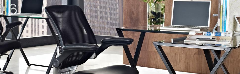 edge office chair with mesh back and black leatherette seat kitchen