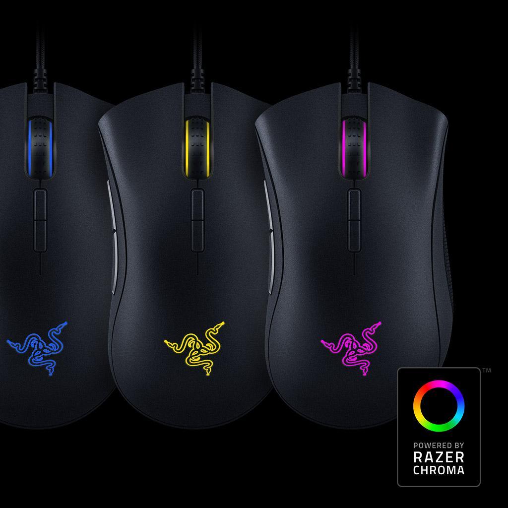razer deathadder elite multi color ergonomic gaming mouse. Black Bedroom Furniture Sets. Home Design Ideas