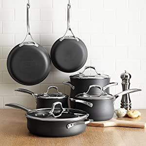 Amazon Com Calphalon Unison Nonstick 10 Piece Cookware