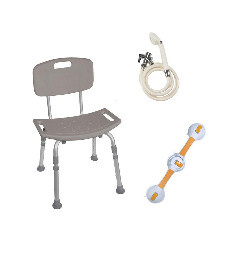 Amazon.com: Drive Medical Shower Tub Chair Grab Bar Safety Bundle ...